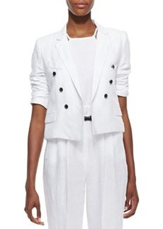 Milly Cropped Sailor-Style Blazer (Stylist Pick!)