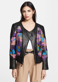 Milly Cubist Couture Jacquard Jacket