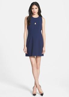 Milly Cutout Crepe A-Line Dress