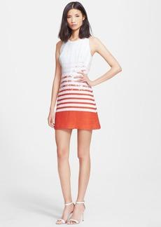 Milly 'Dégradé' Tweed A-Line Dress