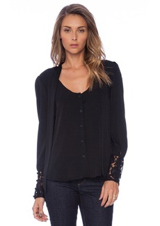 MILLY Dahlia Lace Lucien Blouse