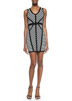 Milly Directional Stripe Knit Sheath Dress