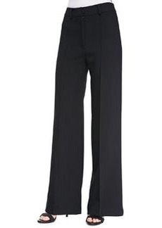 Milly Double-Weave Cady Wide-Leg Trousers