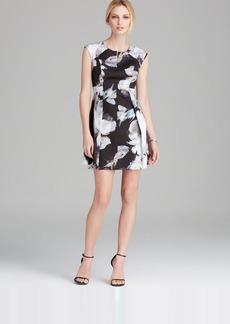 MILLY Dress - Brushstroke Floral Print