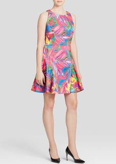 MILLY Dress - Feather Print Flounce