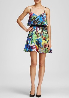 MILLY Dress - Floral Print Flared