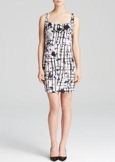 MILLY Dress - Splatter Print Back Cutout