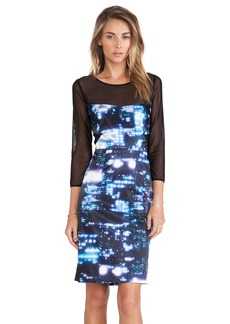 MILLY Elsa Mesh Paneled Dress