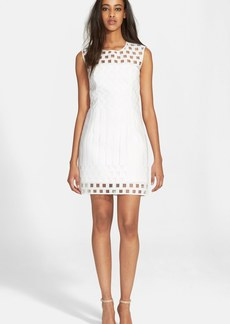 Milly Embroidered Mesh Shift Dress