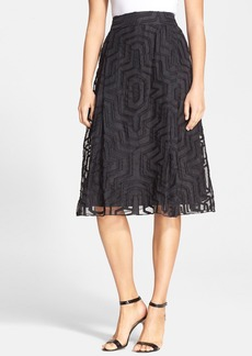 Milly Fil Coupe A-Line Midi Skirt