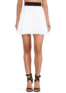 MILLY Flare Mini Skirt