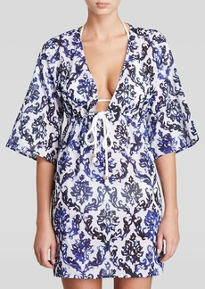 MILLY Fleur Mosaic Tunic Swim Cover Up