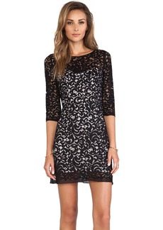 MILLY Floral Lace Ally Dress