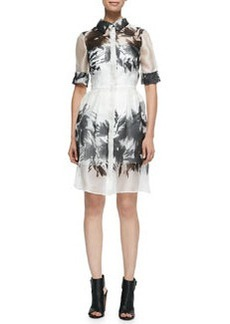 Milly Floral Mirage Printed Shirtdress