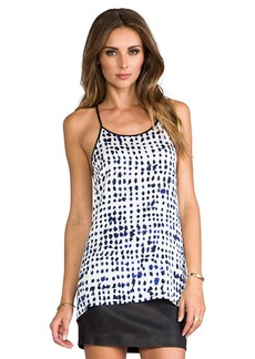 MILLY Fly-Away Top in Blue