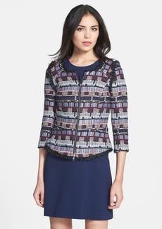 Milly Fringe Tweed Jacket