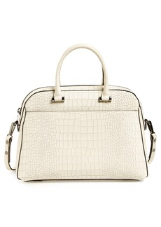 Milly 'Ginza' Matte Croc Embossed Satchel