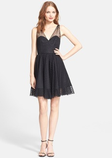 Milly 'Grace' Dot Tulle Fit & Flare Dress