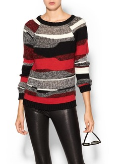 Milly Graphic Stripe Sweater