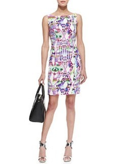 Milly Hypnotic Print Slim Sheath Dress