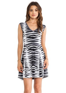 MILLY Ikat Jacquard Flare Dress
