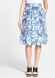 Milly 'Katie' Print Flare Skirt