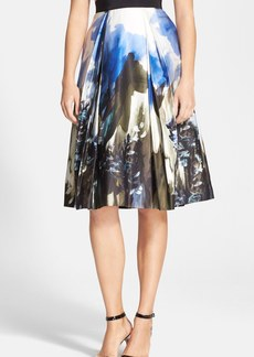 Milly 'Katie' Print Pleated Midi Skirt