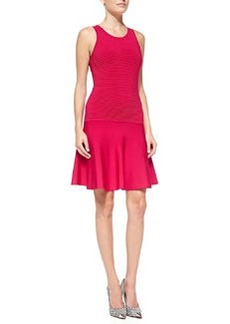 Milly Knit Fit-&-Flare Sleeveless Dress