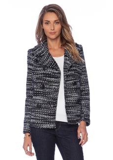 MILLY Knitted Tweed Peacoat