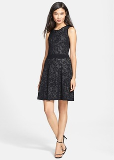 Milly Lace Jacquard Fit & Flare Dress
