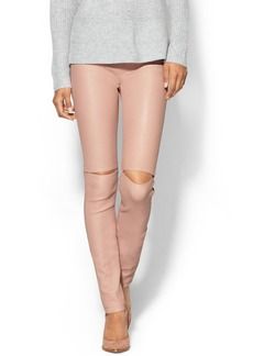 Milly Leather Slit Knee Pant