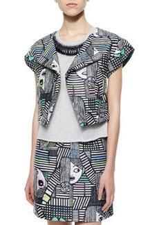 Milly Les Femmes Jacquard Jacket