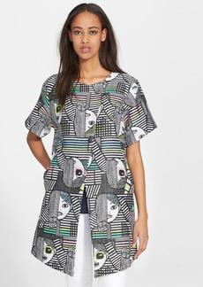Milly 'Les Femmes' Print Jacquard Coat