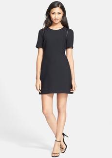 Milly 'Margot' Leather Trim Dress