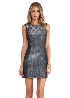 MILLY Metallic Shift Dress