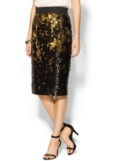 Milly Midi Sequin Pencil Skirt