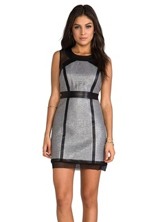 MILLY Milly Laminated Italian Dress in Gray
