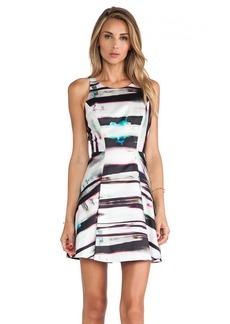 MILLY Mirage Print Flare Dress