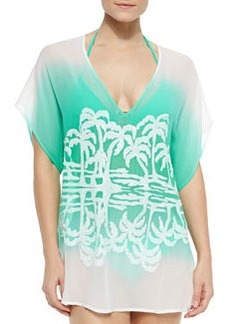 Milly Ombre Island-Print Coverup Tunic