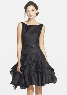 Milly Organza Tiered Fit & Flare Dress