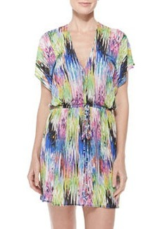 Milly Palmones Marble-Print Coverup Dress