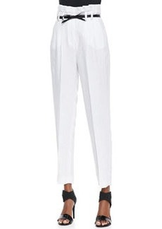 Milly Paper Bag Pleated Trousers