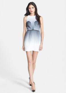Milly Pleated Silk Georgette Sheath Dress