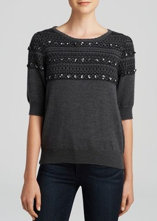 MILLY Pullover - Sequin Jacquard