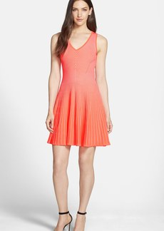 Milly Ribbed Stretch Fit & Flare Dress