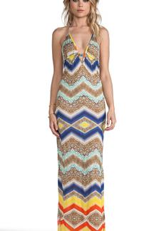 MILLY Saint Helena Maxi Dress in Blue