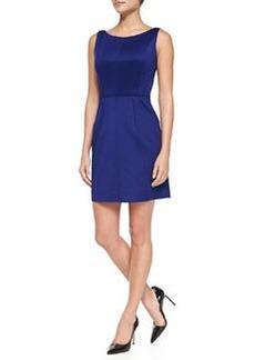 Milly Seam-Detail Shift Dress, Cobalt
