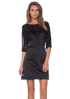 MILLY Seamed Bustier Sleeve Dress