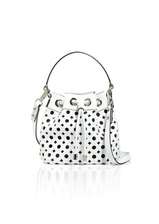 MILLY Shoulder Bag - Small Perforated Bucket Drawstring