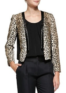 Milly Sidney Cheetah-Print Jacket